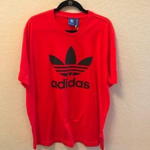 Adidas Logo Red and Navy T-shirt